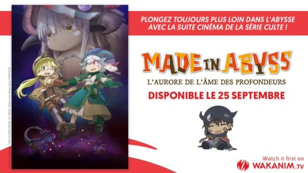 Made in abyss film Wakanim